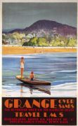 Grange Over Sands, Cumbria. Vintage LMS Travel poster by Frank Ball.